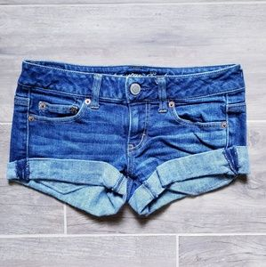 AEO   Cuffed Jean Shorts